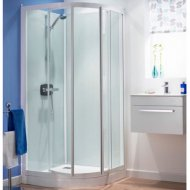 Kinedo Kineprime Glass 900mm by 900mm Quadrant Shower Cubicle with Pivot Door - 553CA782TTN (CA782TTN)