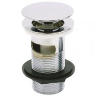 Marflow Now Chrome Basin Waste with Mushroom Spring Plug (Unslotted) – T933