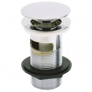 Marflow Now Chrome Basin Waste with Mushroom Spring Plug (Slotted) – T932/A