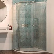 Matki-One Curved Offset 1200 x 900mm Shower Enclosure with Tray – MOC1290TSILVER