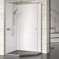 Matki-One Quintesse 900 x 900mm Shower Enclosure with Tray – MOQP900TSILVER
