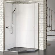 Matki-One Quintesse 1000 x 1000mm Shower Enclosure with Tray – MOQP1000TSILVER