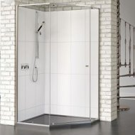 Matki-One Quintesse Offset 1200 x 900mm Shower Enclosure without Tray – MOQP1290SILVER