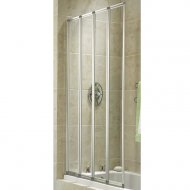 Q4 Linea Aquarius 4-Fold Bath Screen 4mm - Q4-01037