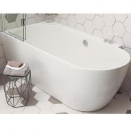 Waters Baths Space Ebb 1660 x 800mm Shower Bath (Left Handed) – WTRS-EBB-1660LH